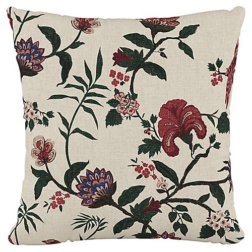 Shaana 20x20 Pillow, Holiday Red