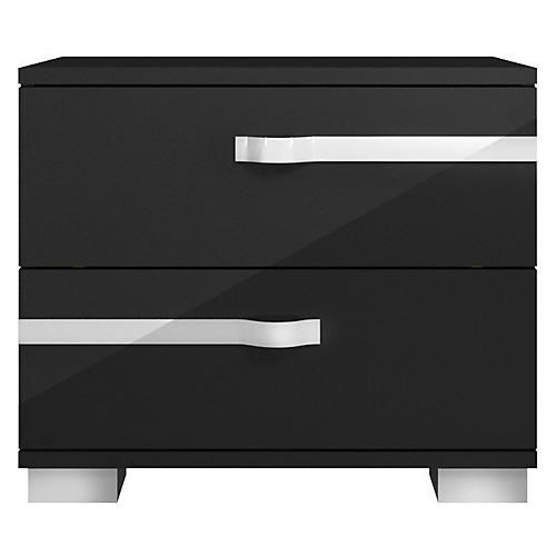 Maddox Nightstand, Black