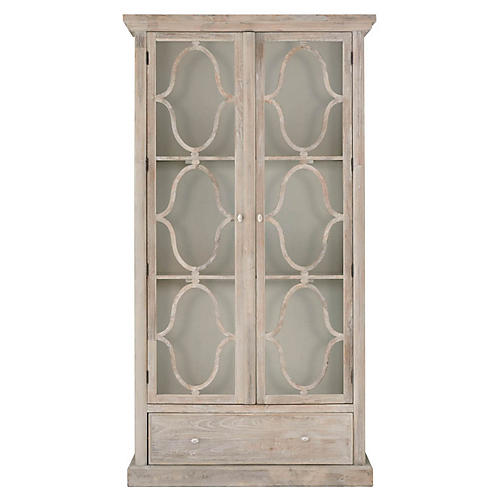 Bourges Display Cabinet, Cream