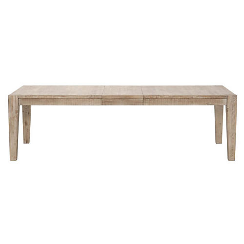 Canal Extension Dining Table, Smoke Gray