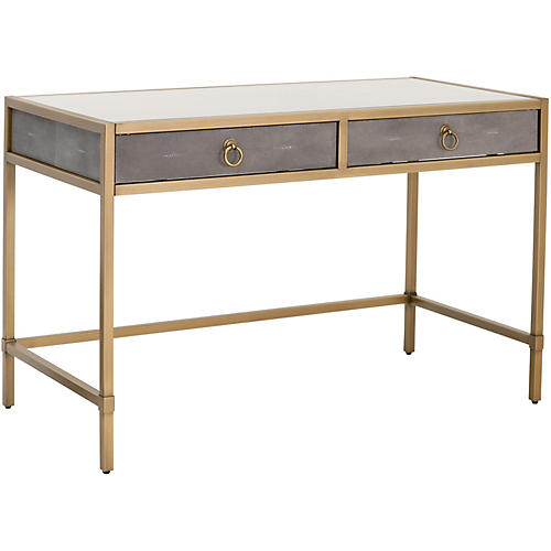 Strand Writing Desk, Gray