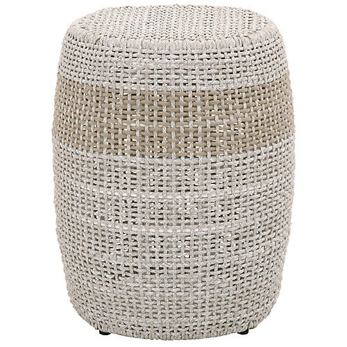 Loom Outdoor Accent Table, Taupe/Natural