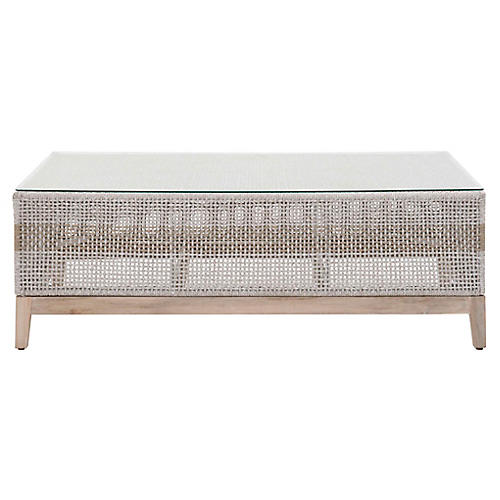 Tapestry Outdoor Coffee Table, Gray