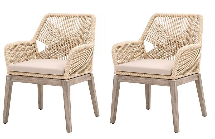 S/2 Easton Armchairs, Sand
