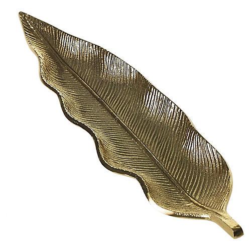 Fern Trinket Dish, Gold