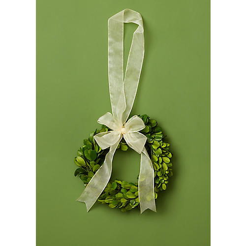 "10"" Vixen Preserved Wreath, Green"
