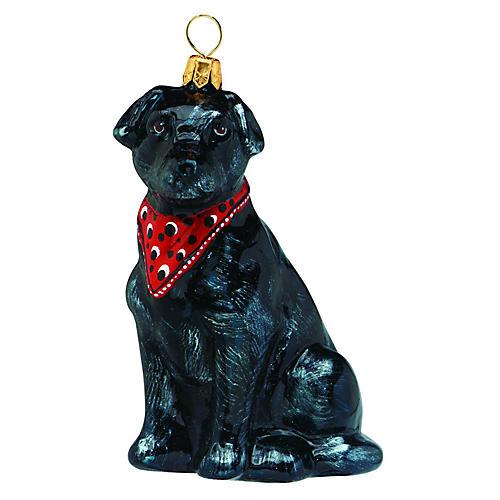 Lady Labrador Retriever Ornament, Black
