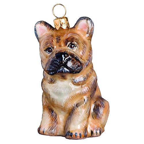 French Bulldog Ornament, Cream