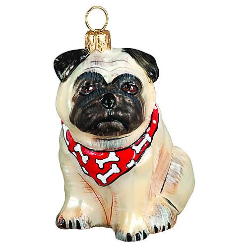 Pug Ornament, Fawn