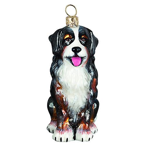 Bernese Mountain Dog Ornament, Black/White