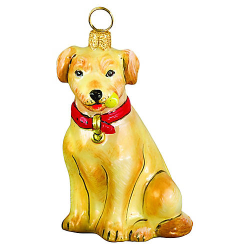 Labrador Ornament, Yellow