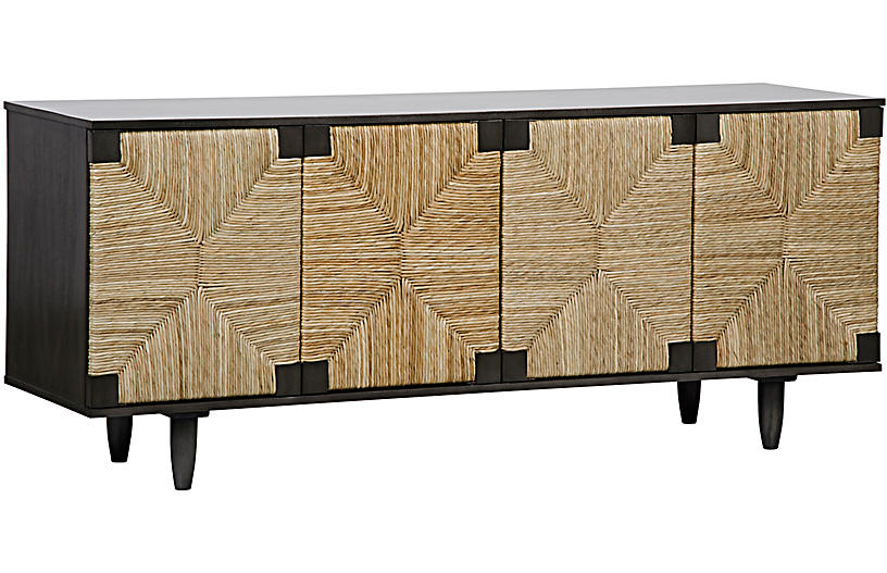 Brook 4-Door Sideboard, Pale