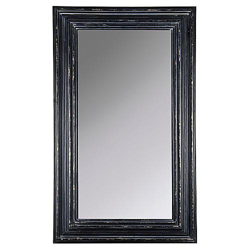 Cordelia Oversize Wall Mirror, Black/Gold