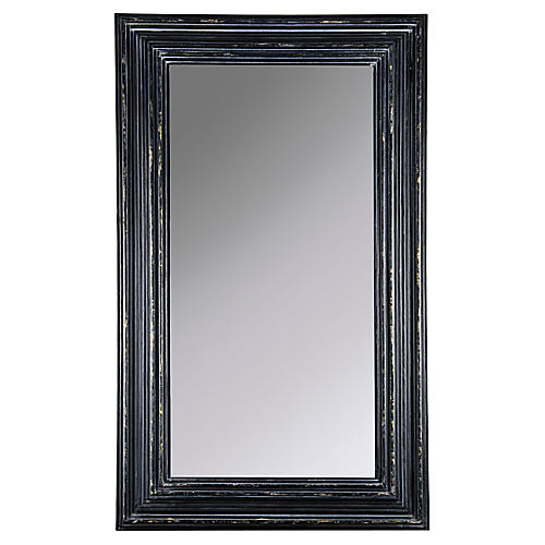Cordelia Oversize Wall Mirror, Black/Gold