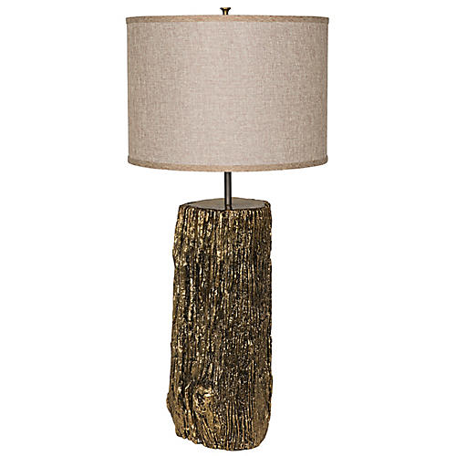 Soma Table Lamp, Antiqued Brass