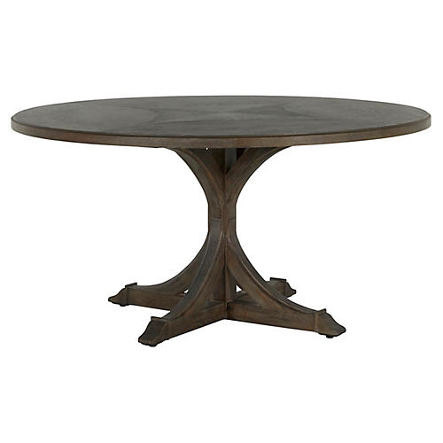Adams Dining Table, Distressed Oak