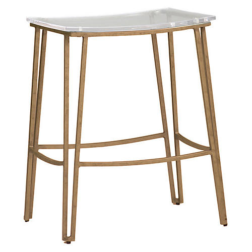 Pierce Counter Stool, Clear