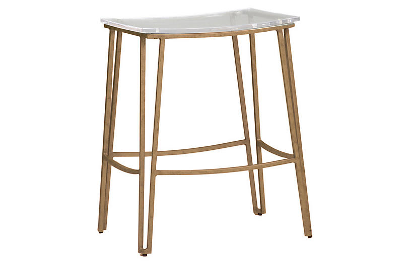 Pierce Counter Stool Clear Gabby Brands One Kings Lane