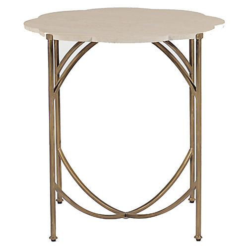 Gillian Side Table, Antiqued Gold