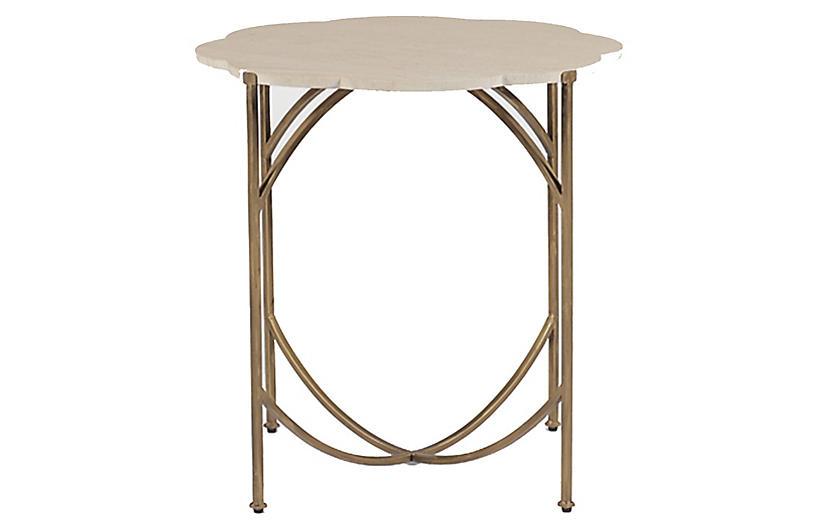 Gillian Side Table, Antiqued Gold