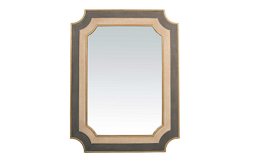 Yardley Oversize Wall Mirror, Antiqued Gold