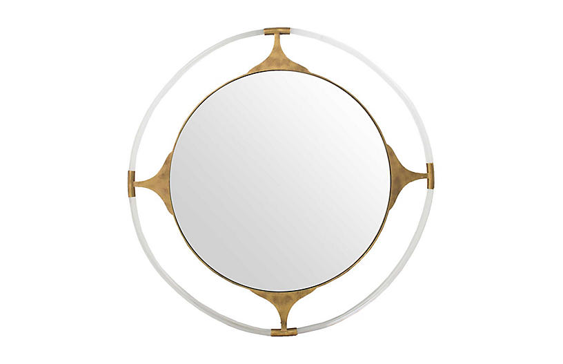 Callisto Wall Mirror, Gilded Gold