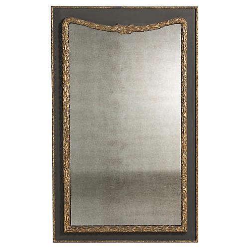 Rowan Wall Mirror, Charcoal/Antiqued Gold