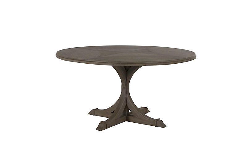 Adams Round Dining Table, Vintage Gray