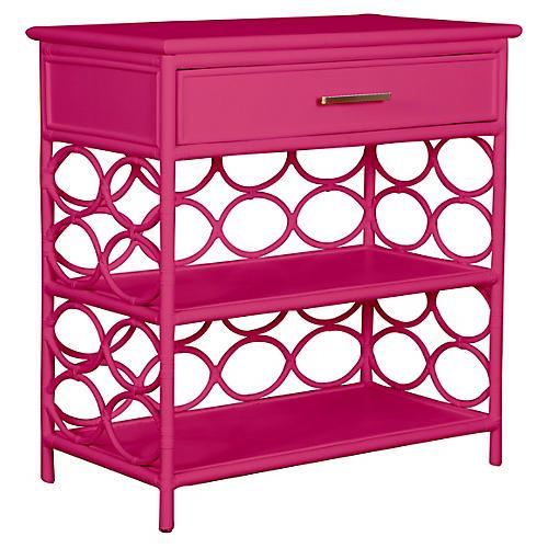 Isla Side Table, Hot Pink