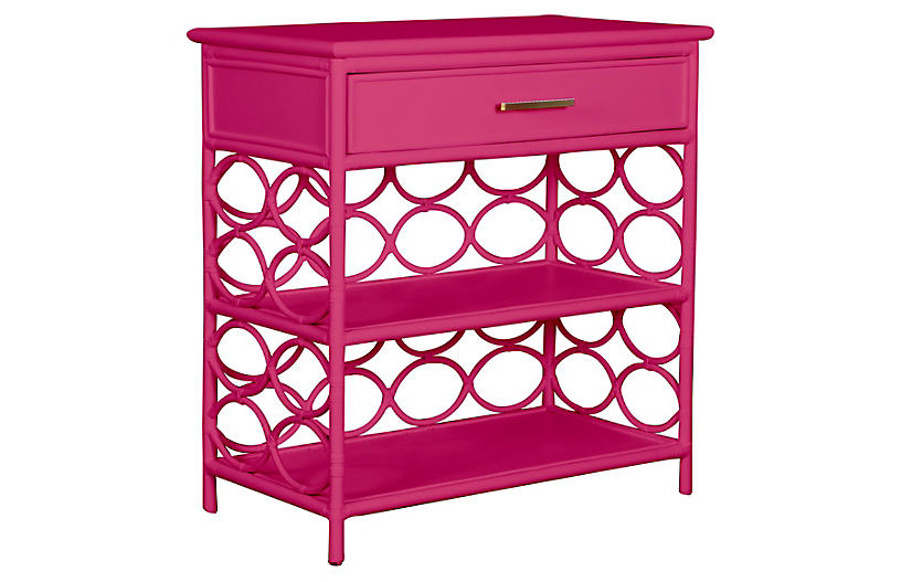 Isla Side Table, Hot Pink