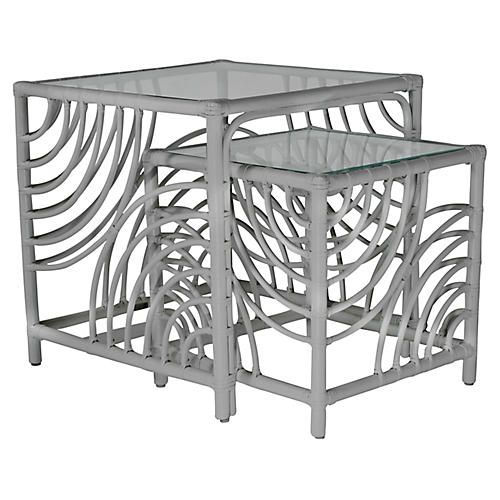 Swirl Nesting Tables, Light Gray