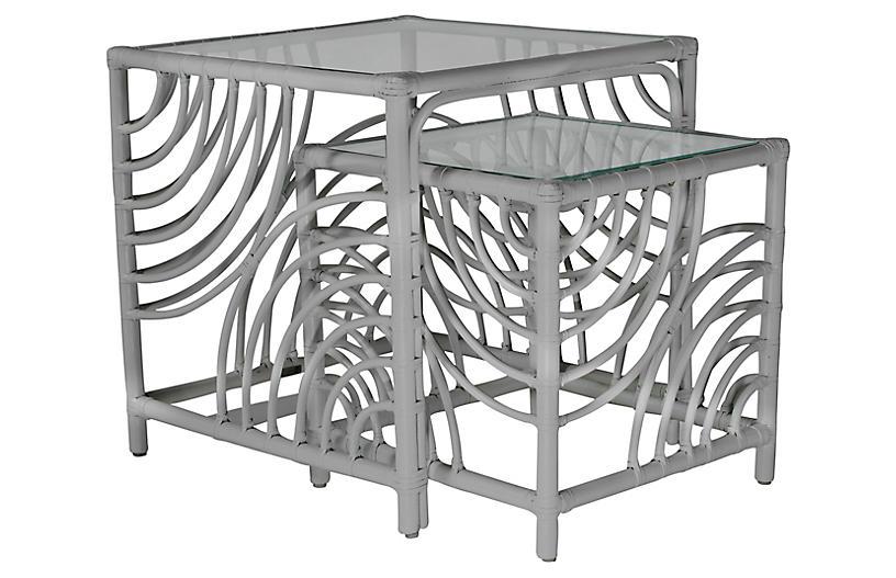 Swirl Nesting Tables, Light Gray