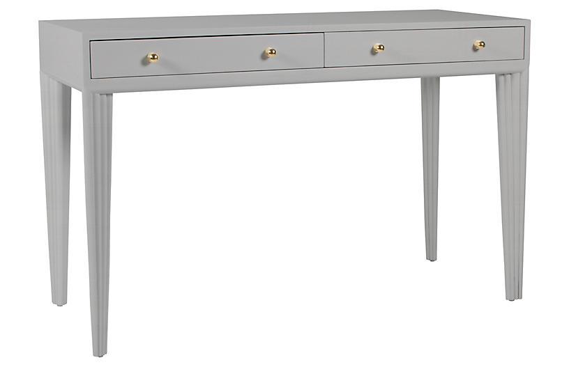 Barcelona Desk, Light Gray
