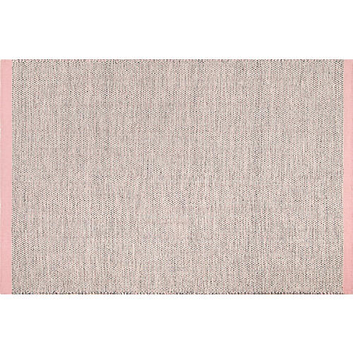 Emelia Kids' Flat-Weave Rug, Pink