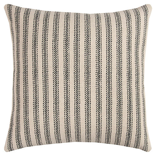 Blythe 20x20 Striped Pillow, Gray