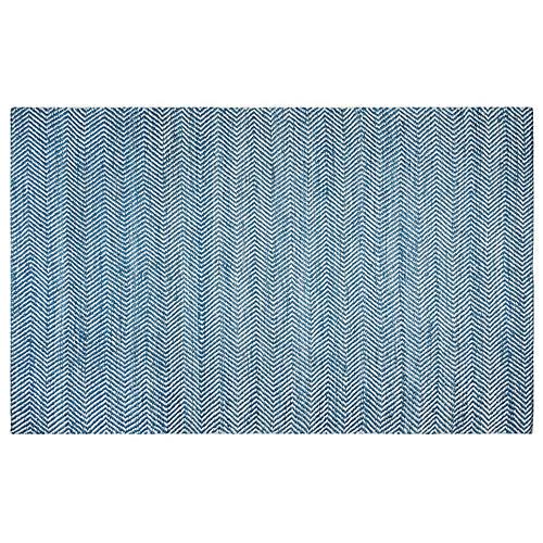 Desmond Flat-Weave Rug, Blue