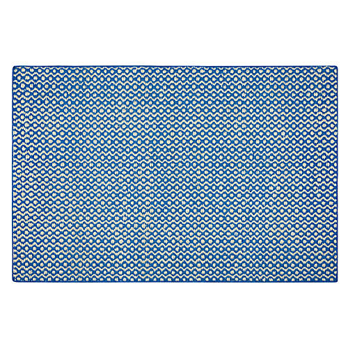 Remarque Flat-Weave Rug, Royal Blue