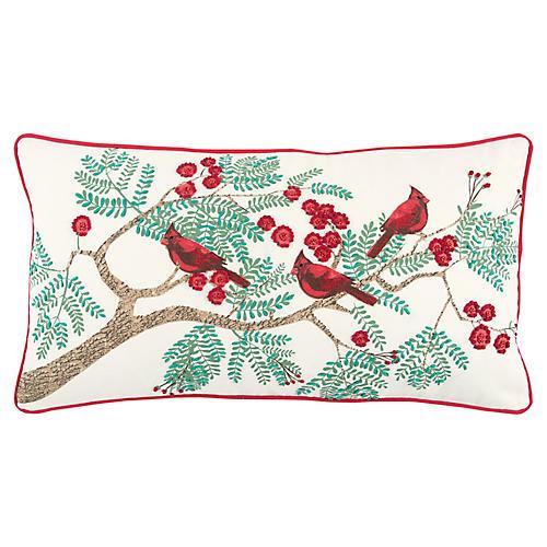 Adair 14x26 Holiday Lumbar Pillow, Red/Multi
