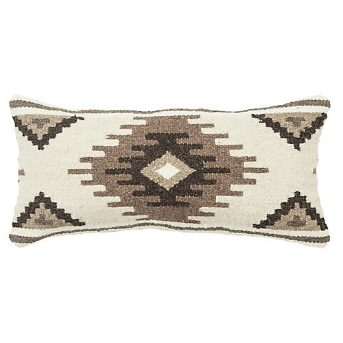 Samara 14x26 Lumbar Pillow, Beige/Cocoa