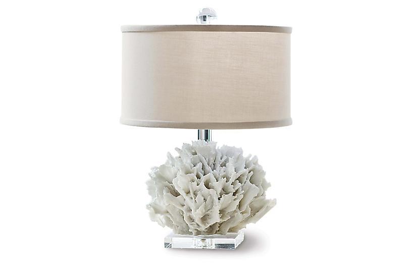 Ribbon Coral Lamp, Resin