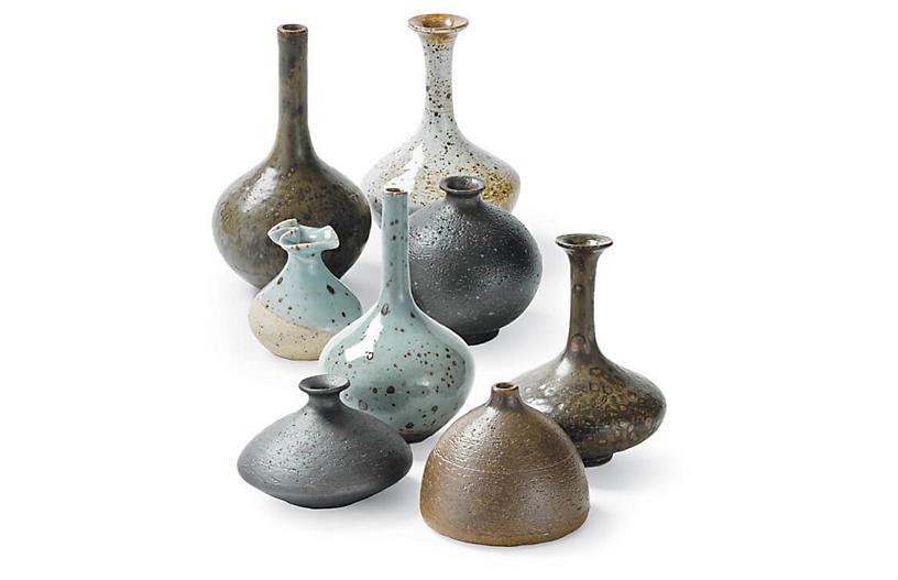 Asst. of 8 Bud Vase Collection, Blue