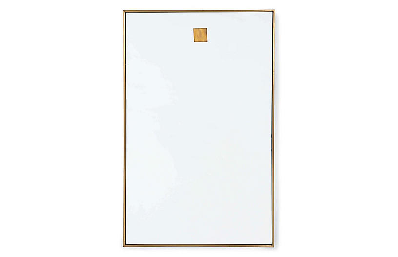 Rectangle Wall Mirror, Brass