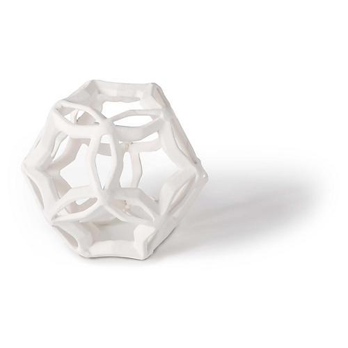 Geometric Star Accent, White