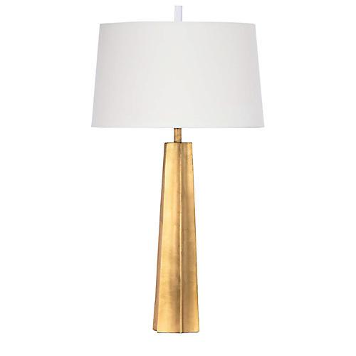 Celine Table Lamp, Gold Leaf
