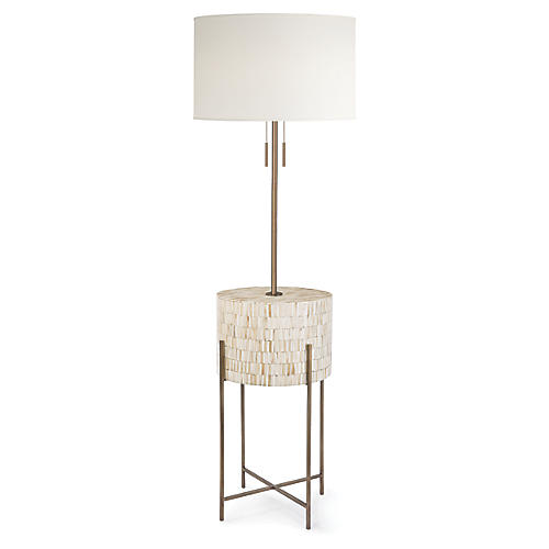 Resse Floor Lamp, Brass