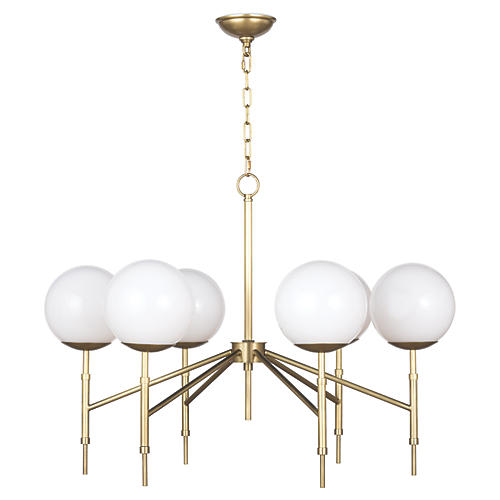 Bodie Chandelier, Natural Brass
