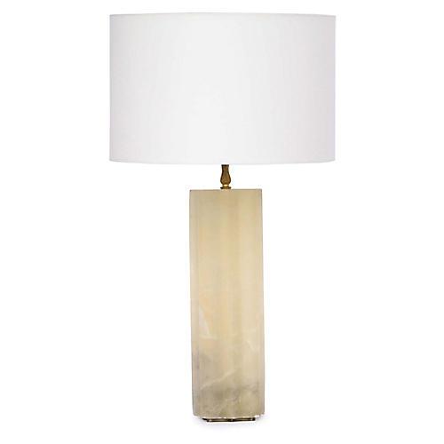 Isadora Alabaster Table Lamp, Natural