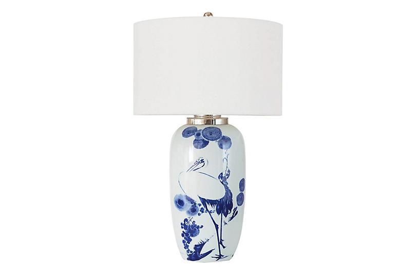 Coastal Living Kyoto Table Lamp, White