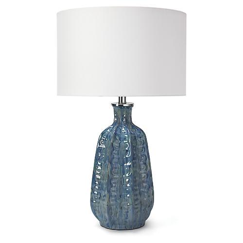 Antigua Table Lamp, Blue