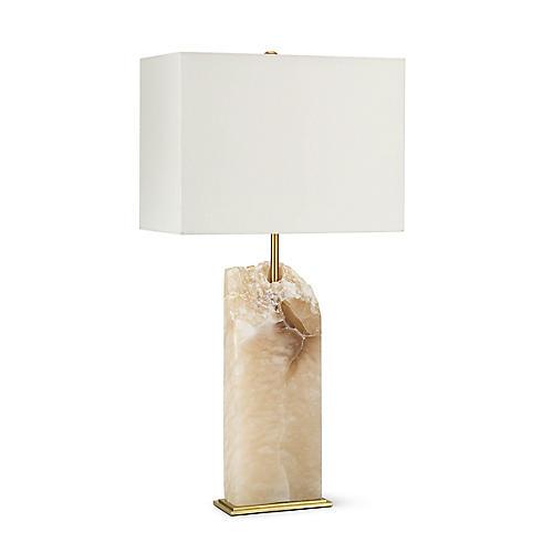 Selina Table Lamp, Natural Stone